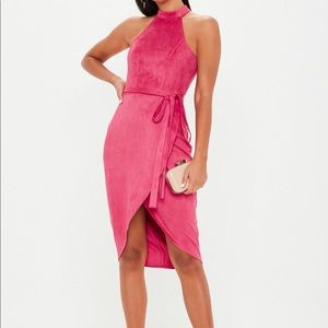 Missguided Suede Hot Pink Dress 🔥